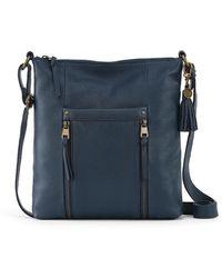 The Sak Collective Leather Ladera Crossbody - Blue