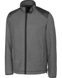 Cutter & Buck Big And Tall Cedar Park Full Zip Jacket - Grey