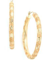Macy's - 14k Gold Hoop Earrings - Lyst