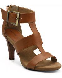 Adrienne Vittadini Varsity Dress Sandal - Brown