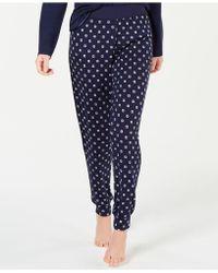 Alfani - Ultra Soft Satin-trimmed Jogger Pyjama Pants, Created For Macy's - Lyst