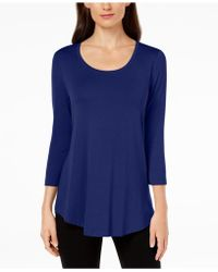 Macy's Jm Collection Scoop-neck Top, Created For - Blue