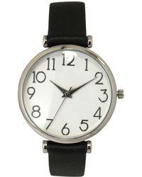 Olivia Pratt - Simple Numerals Leather Strap Watch - Lyst