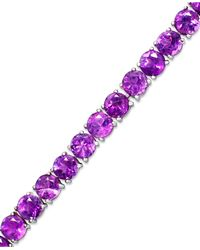 Macy's Garnet Sterling Silver Bracelet (20 Ct. T.w.) (also Available In Amethyst, Blue Topaz And Multi-stone) - Purple