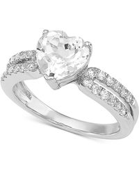 Arabella - Swarovski Zirconia Heart Ring In Sterling Silver - Lyst