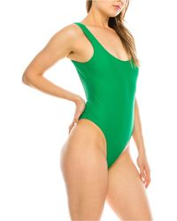Kendall + Kylie Low Back One-piece Swimsuit - Green