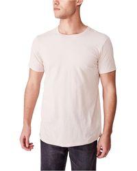 Cotton On Essential Longline Curved Hem T-shirt - Multicolor