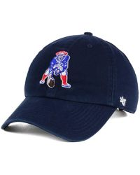 9a136ed382a Lyst - 47 Brand New England Patriots Franchise Hat in Blue for Men