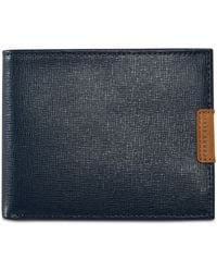 Perry Ellis Virginia Passcase Leather Wallet - Blue