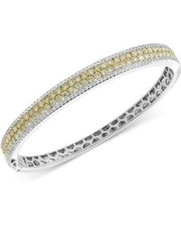 Effy Collection - Effy® Diamond (3-3/8 Ct. T.w.) Bangle Bracelet In 14k Gold And White Gold - Lyst