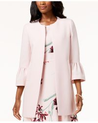 Nine West - Car Coat With Bell Sleeves - Lyst