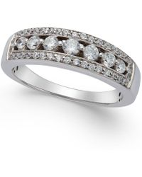Macy's - Diamond Seven-stone Band (1/2 Ct. T.w.) In 14k White Gold - Lyst