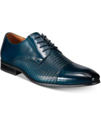Florsheim Calipa Cap-toe Oxfords, Created For Macy's - Blue