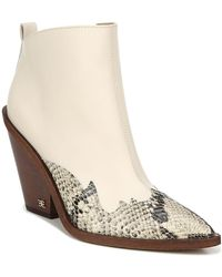 Sam Edelman Ilah Western Boots - White