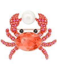 Swarovski Ocean Crab Brooch - Multicolor