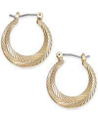 Charter Club - Gold-tone Textured Hoop Earrings, Created For Macy's - Lyst