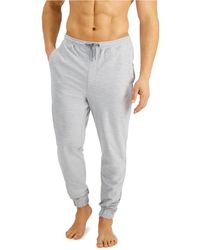 Alfani Moisture-wicking Pyjama Sweatpants, Created For Macy's - Grey