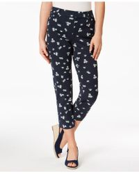 Charter Club - Newport-print Slim-leg Cropped Trousers, Created For Macy's - Lyst