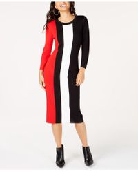 INC International Concepts - I.n.c. Colorblocked Sweater Dress, Created For Macy's - Lyst