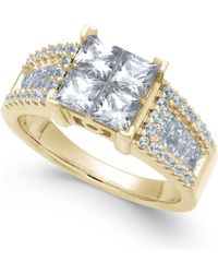 Macy's - Diamond Princess Engagement Ring (2 Ct. T.w.) - Lyst