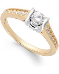 Sirena Diamond Engagement Ring In 14k Gold (1/2 Ct. T.w.) - Metallic