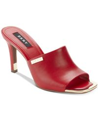 DKNY Bronx Dress Sandals, Created For Macy's - Red