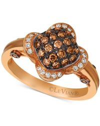 Le Vian - Chocolatier® Diamond Cluster Ring (1/2 Ct. T.w.) In 14k Rose Gold - Lyst