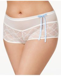 Inspire Psyche Terry - Goddess Plus Size Chantilly Lace Boyshort Ipts053-1 - Lyst