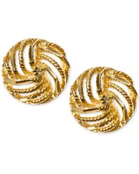 Macy's - Decorative Love Knot Stud Earrings In 10k Gold - Lyst