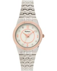 Style & Co. Style&co. Watch, Women's Silver Tone Expansion Bracelet 20mm Sy026srg - Metallic