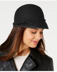 Nine West Wool Felt Cap - Black