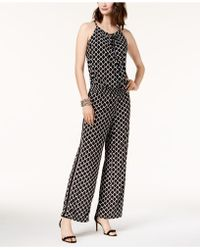 INC International Concepts - Printed Peasant Jumpsuit - Lyst