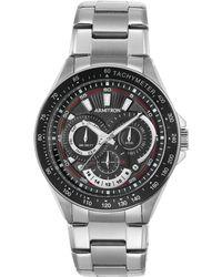 Armitron - Men's Stainless Steel Bracelet Watch 47mm 20-5197bksv - Lyst