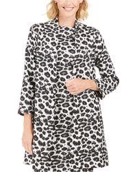Natori N Snow Leopard Topper - Black