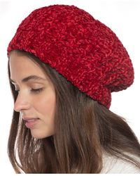 Charter Club Chenille Beret, Created For Macy's - Red