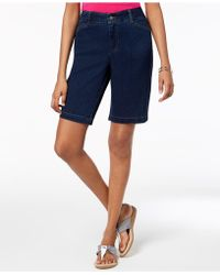 Charter Club Tummy-control Denim Shorts, Created For Macy's - Blue