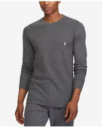 56cfc19dd Lyst - Ralph Lauren Polo Waffle-Knit Thermal in Green for Men