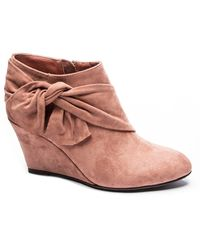 CL By Chinese Laundry Viveca Wedge Ankle Booties - Pink
