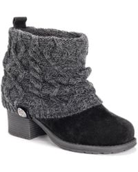 Muk Luks Haley Boots - Black