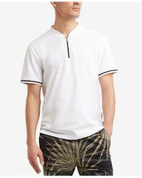 Kenneth Cole Reaction - Quarter Zip Mock-collar T-shirt - Lyst