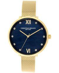 Christian Siriano Analog Gold-tone Mop Stainless Steel Mesh Watch 38mm - Metallic