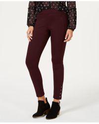 Style & Co. - Snap-hem Ponté-knit Leggings, Created For Macy's - Lyst