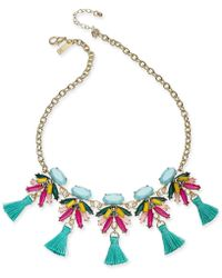 "INC International Concepts - I.n.c. Gold-tone Multi-stone & Tassel Statement Necklace, 18"" + 3"" Extender, Created For Macy's - Lyst"