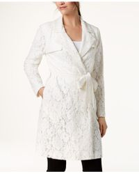 Alfani - Lace Trench Coat, Created For Macy's - Lyst
