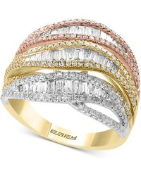 7f3fdaed2 Effy Collection Trio By Effy Diamond Tri-tone Flower Ring In 14k Gold (5/8  Ct. T.w.) in Metallic - Lyst