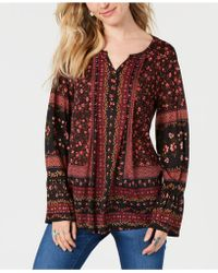 Style & Co. - Mixed-print Top, Created For Macy's - Lyst
