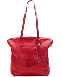 Patricia Nash Leather Brights Rochelle Satchel - Red