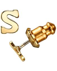 2028 - 14k Gold-dipped Initial Button Earrings - Lyst