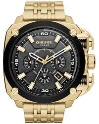 DIESEL Chronograph Gold-tone Stainless Steel Watch 55mm - Metallic
