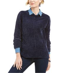 Style & Co. Chenille Sweater, Created For Macy's - Blue